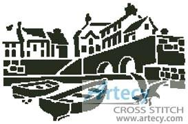 cross stitch pattern Landscape Silhouette 1