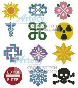 cross stitch pattern Little Designs 1