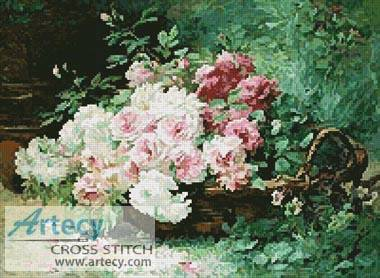 cross stitch pattern Les Roses du Jardin