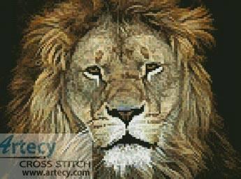 cross stitch pattern Lion Face 2