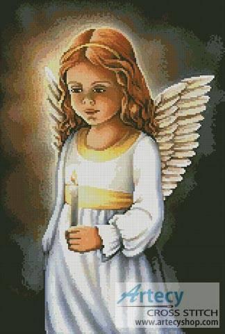 cross stitch pattern Angel of the Light