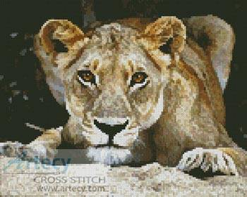 cross stitch pattern Lioness 2