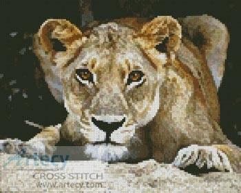 cross stitch pattern Lioness 2