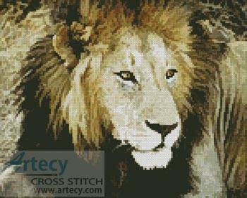 cross stitch pattern Lion 4
