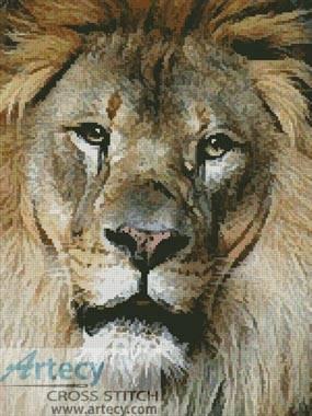 cross stitch pattern Lion Face