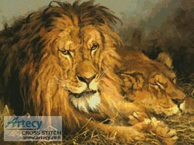 cross stitch pattern Lion and Lioness