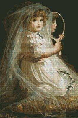 cross stitch pattern The Little Bridesmaid