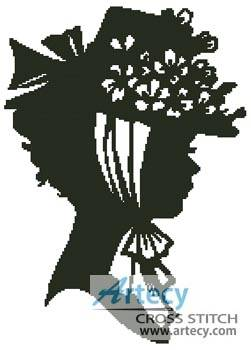 cross stitch pattern Lady Silhouette 2