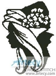 cross stitch pattern Lady Silhouette