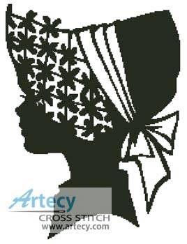 cross stitch pattern Lady Silhouette 3
