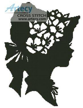 cross stitch pattern Lady Silhouette 4