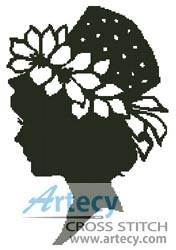 cross stitch pattern Lady Silhouette 5