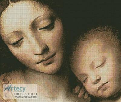 cross stitch pattern Madonna and Child 1