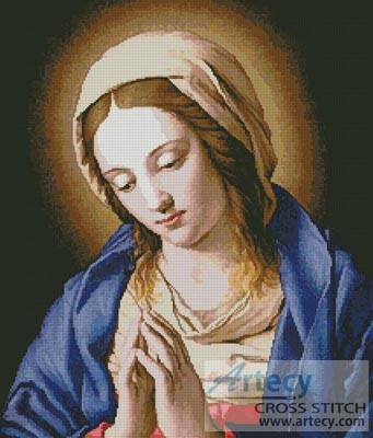 cross stitch pattern Madonna Praying