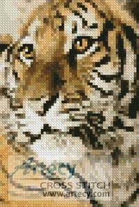 cross stitch pattern Mini Bengal Tiger Cub
