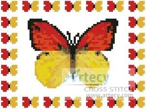 cross stitch pattern Mini Butterfly Sampler 1