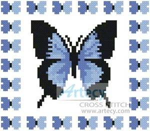 cross stitch pattern Mini Butterfly Sampler 2