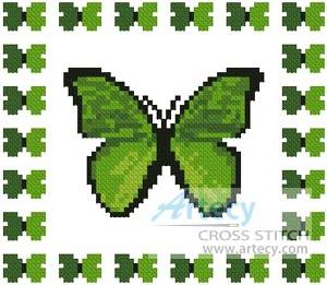 cross stitch pattern Mini Butterfly Sampler 3