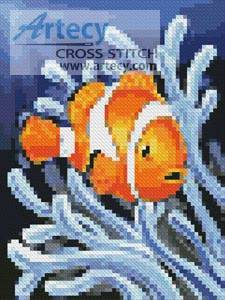 cross stitch pattern Mini Clownfish 2
