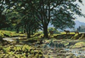 cross stitch pattern Mini Cow Creek