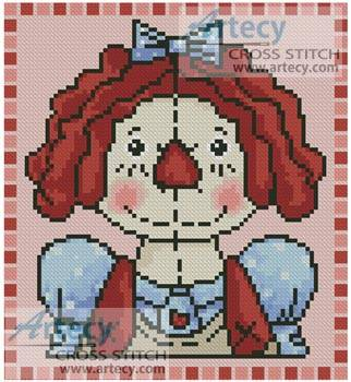 cross stitch pattern Mini Country Annie