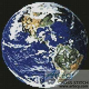 cross stitch pattern Mini Earth