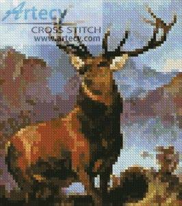 cross stitch pattern Mini Monarch of the Glen