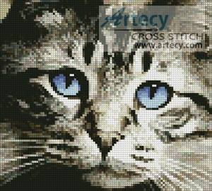 cross stitch pattern Mini Blue Eyes