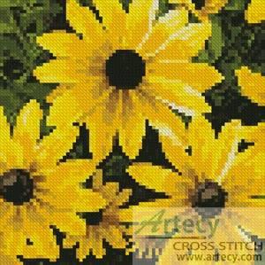 cross stitch pattern Mini Black-eyed Susan
