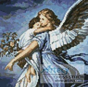 cross stitch pattern Mini Guardian Angel
