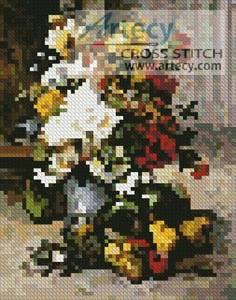 cross stitch pattern Mini Grand Bouquet of Flowers