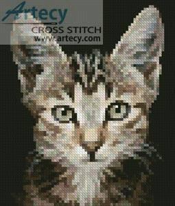 cross stitch pattern Mini Kitten Photo