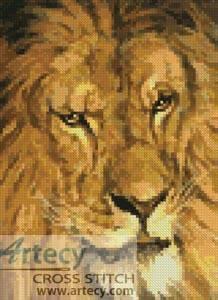 cross stitch pattern Mini Lion 6