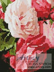 cross stitch pattern Mini Roses 2