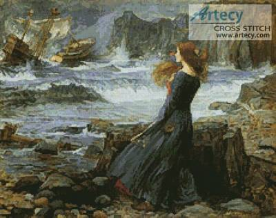 cross stitch pattern Miranda the Tempest