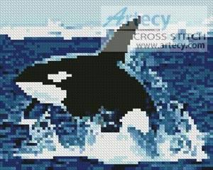 cross stitch pattern Mini Whale