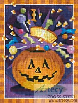 cross stitch pattern Mini Jack O' Lantern