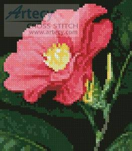 cross stitch pattern Mini Japanese Camellia