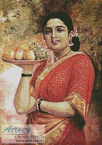 cross stitch pattern The Maharashtrian Lady