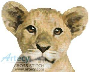 cross stitch pattern Mini Lion Cub
