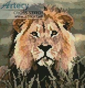 cross stitch pattern Mini Lion 3