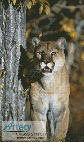 cross stitch pattern Mountain Lion