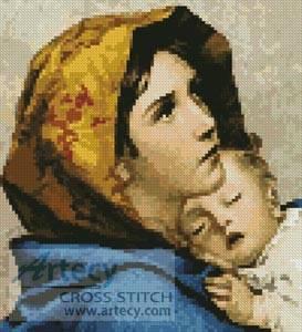 cross stitch pattern Mini Madonna
