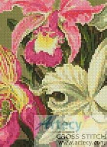 cross stitch pattern Mini Orchids