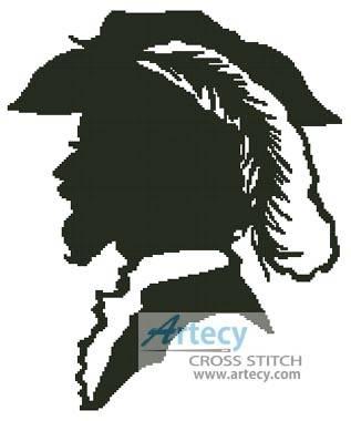 cross stitch pattern Man Silhouette