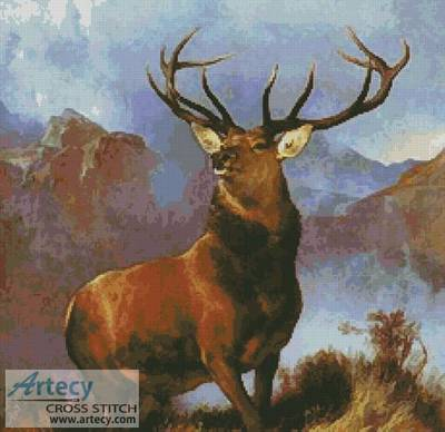 cross stitch pattern Monarch of the Glen