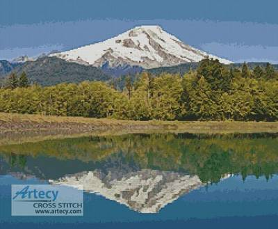 cross stitch pattern Mount Baker