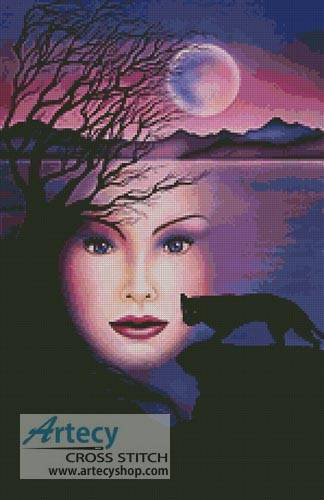 cross stitch pattern Moon Shadow