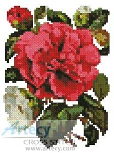 cross stitch pattern Mini Pink Camellia