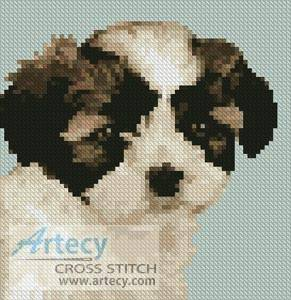cross stitch pattern Mini Shih Tzu Puppy